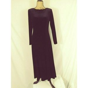 David Warren Black Velvet Occasion Evening Dress